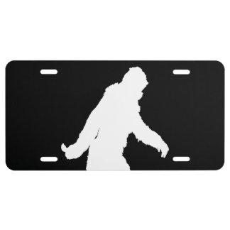 Sasquatch Bigfoot Gone Squatchin Fast License Plate
