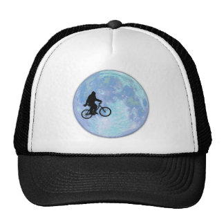 Sasquatch/Bigfoot On Bike In Sky With Moon Hat