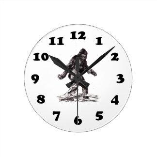 Sasquatch Bigfoot Round Clock