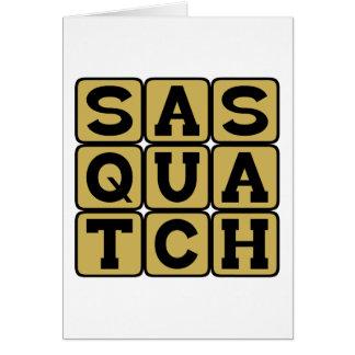 Sasquatch, Bigfoot Tarjeta De Felicitación
