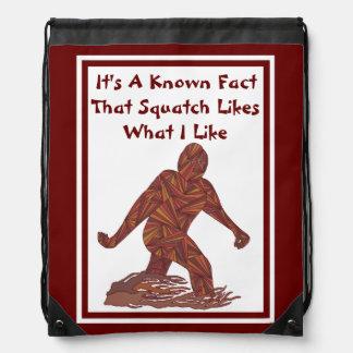 Sasquatch Bigfoot Yeti Cryptid Fun Squatch Facts Cinch Bags