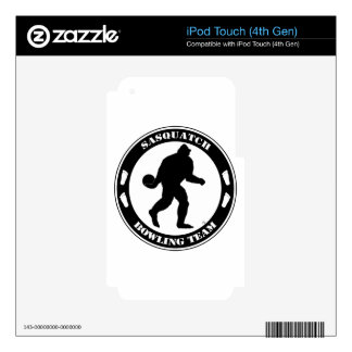 Sasquatch Bowling Team Skin For iPod Touch 4G
