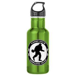 Sasquatch Bowling Team Stainless Steel Water Bottle