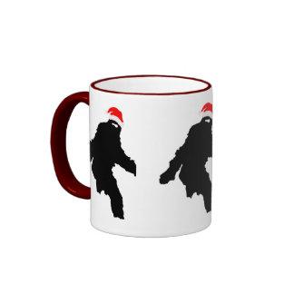 Sasquatch Claus Ringer Mug