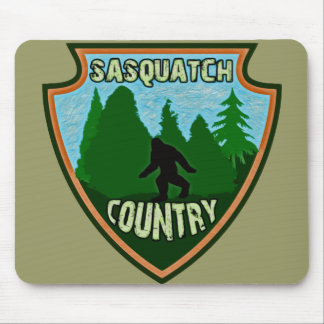 Sasquatch Country Mouse Pad
