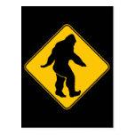 Sasquatch crossing postcard