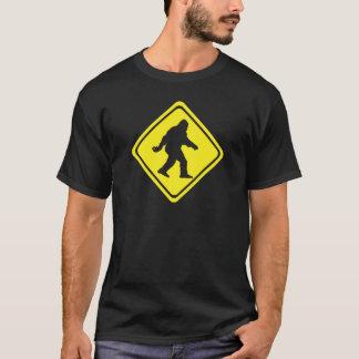Sasquatch Crossing Warning Sign Shirt