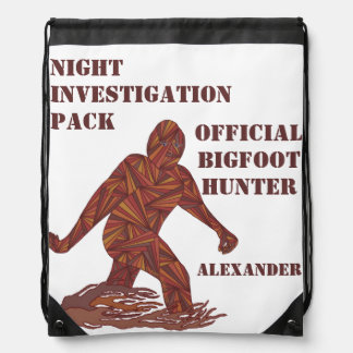 Sasquatch Cryptid Bigfoot Night Investigation Pack Backpack