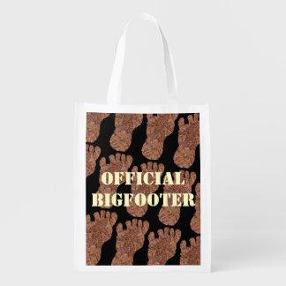 Sasquatch Cryptid Bigfooter oficial Eco amistoso Bolsas De La Compra