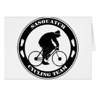 Sasquatch Cycling Team Card