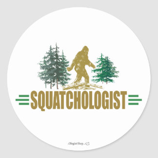 Sasquatch divertido Bigfoot Etiquetas