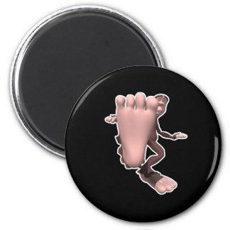 sasquatch divertido Bigfoot Imán Redondo 5 Cm