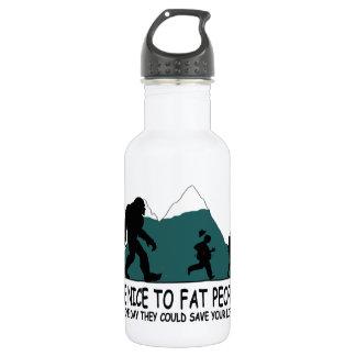 Sasquatch divertido botella de agua de acero inoxidable