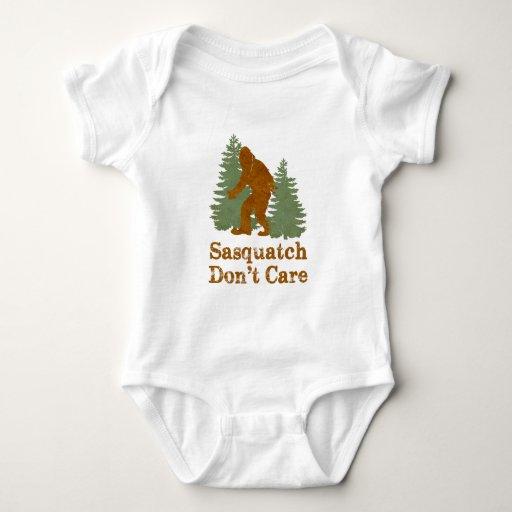 Sasquatch Don't Care Baby Bodysuit