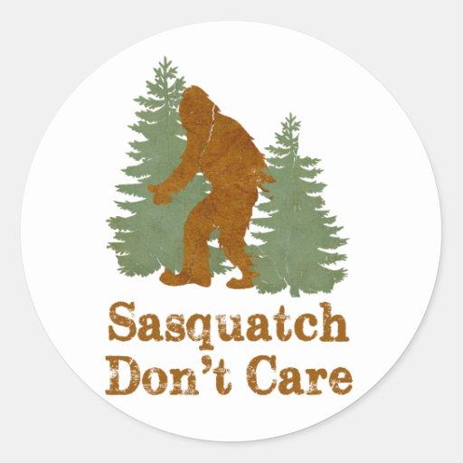Sasquatch Don't Care Classic Round Sticker