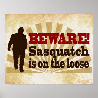 Sasquatch en el flojo póster