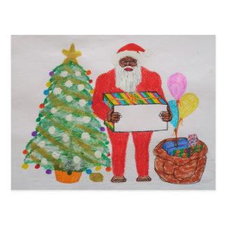 Sasquatch father christmas post card