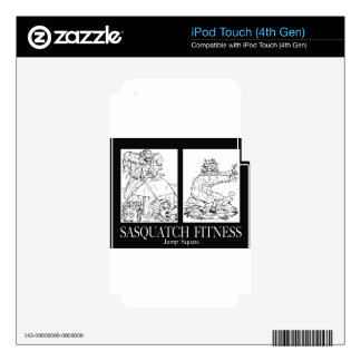Sasquatch Fitness Series Pic #1 JUMP SQUATS iPod Touch 4G Decal