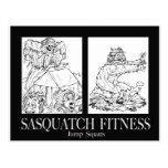 Sasquatch Fitness Series Pic #1 JUMP SQUATS Postcards