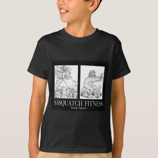 Sasquatch Fitness Series Pic #1 JUMP SQUATS T-Shirt