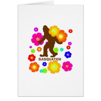 Sasquatch Flowers Card