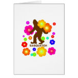 Sasquatch Flowers Greeting Card