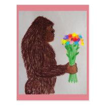 Sasquatch flowers love postcard