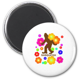 Sasquatch Flowers Magnet