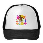 Sasquatch Flowers Trucker Hat