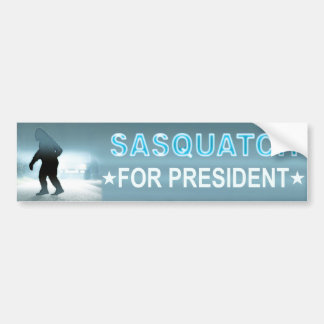 Sasquatch For President Bumper Sticker