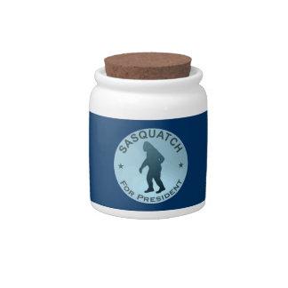 Sasquatch For President Candy Jar