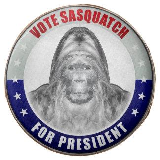 Sasquatch For President Chocolate Dipped Oreo
