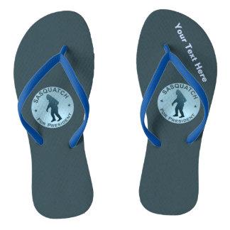 Sasquatch For President Flip Flops