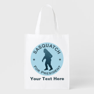 Sasquatch For President Grocery Bag