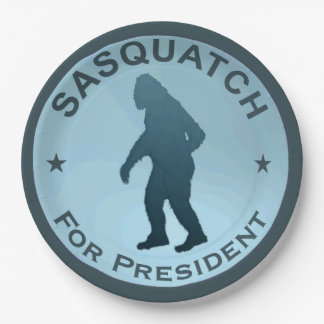 Sasquatch For President Paper Plate