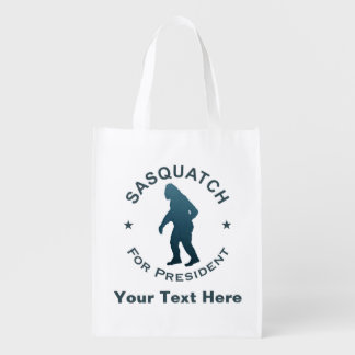 Sasquatch For President Reusable Grocery Bag