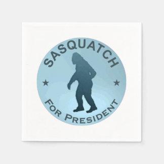 Sasquatch For President Paper Napkins