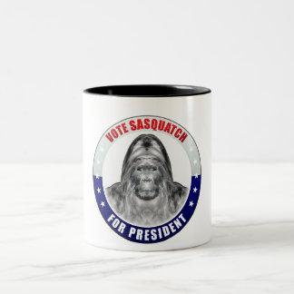 Sasquatch For President Two-Tone Coffee Mug