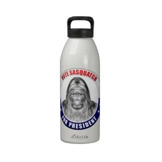 Sasquatch For President Water Bottle