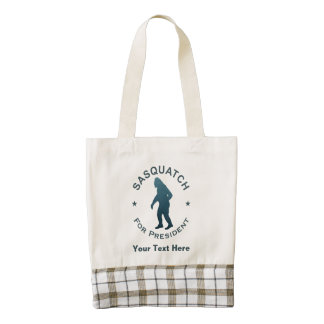 Sasquatch For President Zazzle HEART Tote Bag