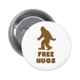 SASQUATCH - FREE HUGS 2 INCH ROUND BUTTON