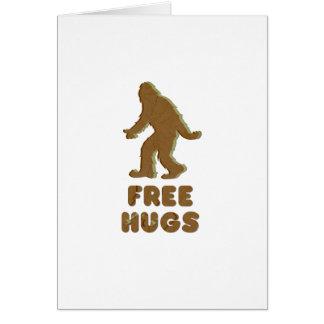 SASQUATCH - FREE HUGS CARDS