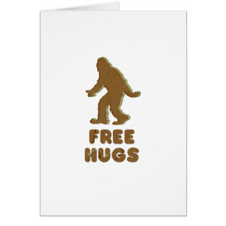 SASQUATCH - FREE HUGS CARDS