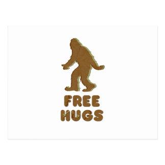 SASQUATCH - FREE HUGS POST CARDS