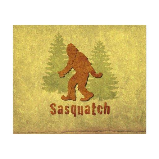 Sasquatch Giclée Impresión En Lona Estirada