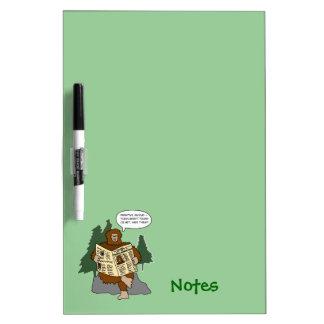 Sasquatch Gift Idea Funny Cartoon Memo Erase Board