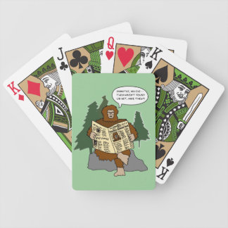 Sasquatch Gift Ideas Funny Cartoon Deck of Cards