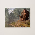 Sasquatch Goes Fishing Jigsaw Puzzle at Zazzle