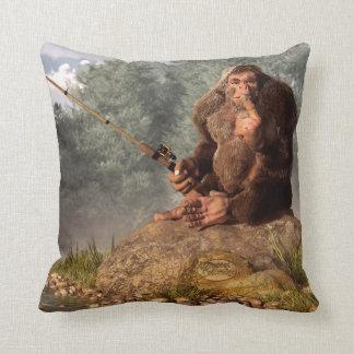Sasquatch Goes Fishing Pillows