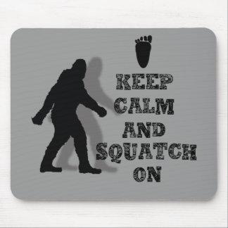 sasquatch grande del pie del friki nerdy divertido mouse pads